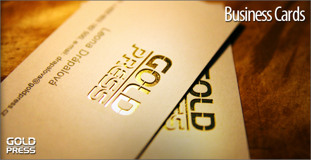 Goldpress business cards business cards are designed in line with the corporate identity and overall corporate design since business cards play an important role when representing colourmoves