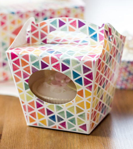 Krabička na cupcake - Triangles (8 Ks) - K11-5025-01