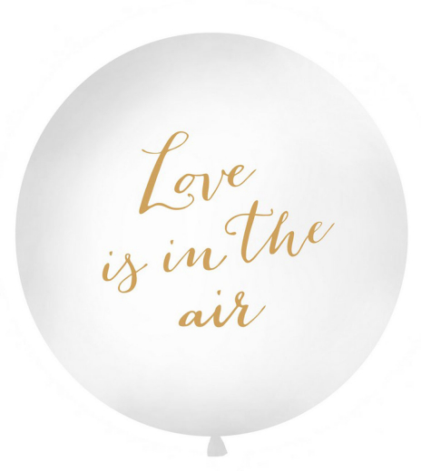 Párty balonek - Giant Balloon 1 m, Love is in the air, white