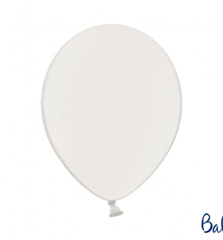 Party balónky - Strong Balloons Ø 30 cm, Metallic Pure White (1 ks) - BL05-0002