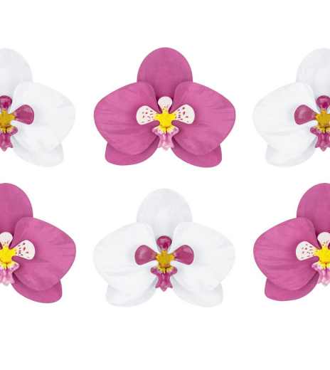 PartyDeco - Paper decorations Aloha - Orchids (6 ks)