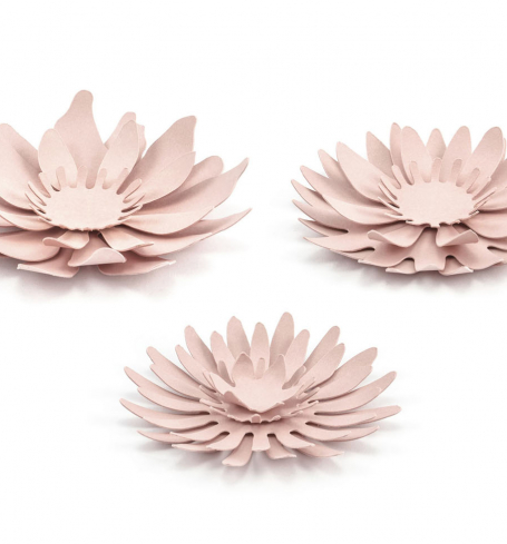 PartyDeco - Paper decorations Flowers (3 ks) - DS023