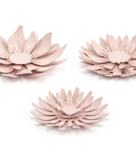 PartyDeco - Paper decorations Flowers (3 ks)