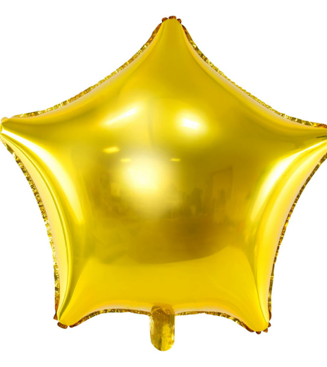 PartyDeco - Foil Balloon Star (1 ks)