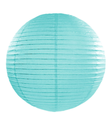 Lampion - Paper lantern, tiffany blue, Ø 45 cm (1 ks) - LP4007