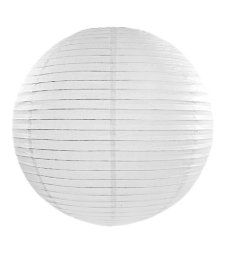 Lampion - Paper lantern, white, Ø 35 cm (1 ks) - LP4006