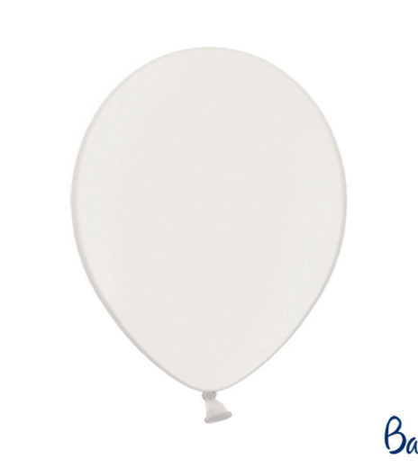 Party balonky - Strong Balloons Ø 30 cm, Metallic Pure White (1 ks) - BL05-0002