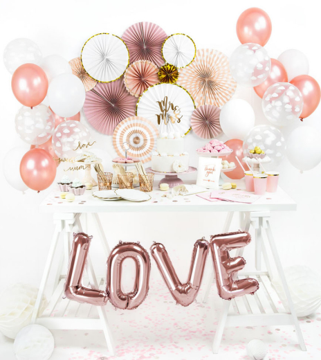 Party balonky - Strong Balloons Ø 30 cm, Metallic Rose Gold (1 ks) - BL05-0004