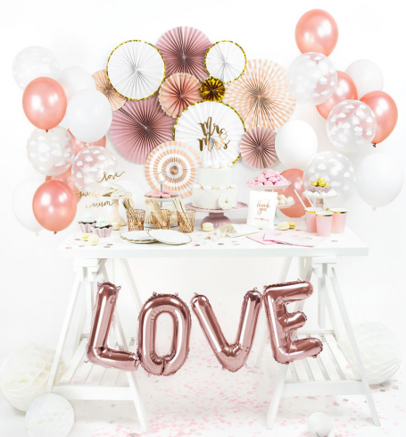 Party balónky - Strong Balloons Ø 30 cm, Metallic Rose Gold (1 ks) - BL05-0004
